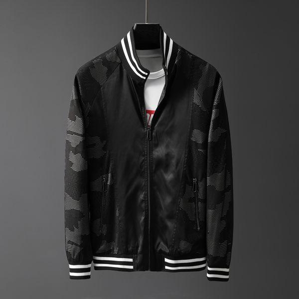 Chaqueta con cremallera para hombre nueva Casual Streetwear Hip Hop Coat Hombres Ropa 19357