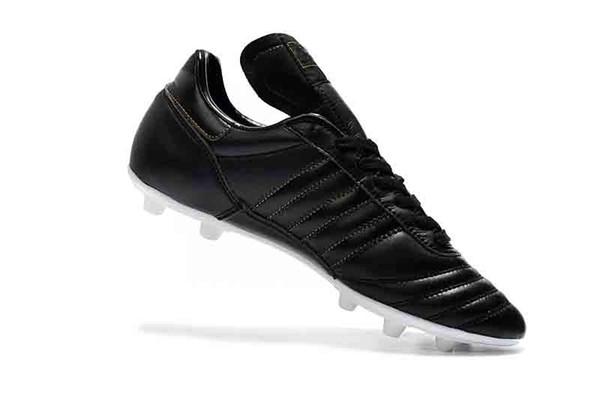 2019 Meilleure Qualité En Cuir Bas Chaussures de Football Copa Mundial FG Football Bottes Hommes En Plein Air Copa Mundial Soccer Crampons Noir
