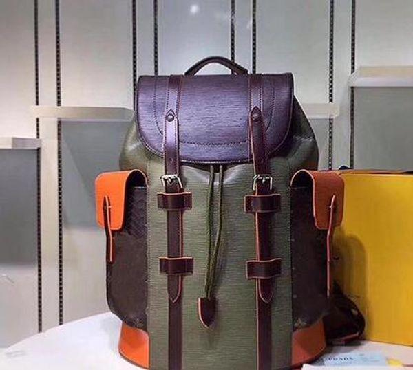 best selling 19SS Wholesale - Women genuine leather backpacks backpack men large travel backpack mochila feminina top quality bagpack