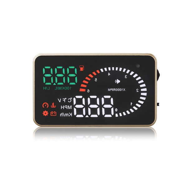Newest hot sell Car Accessories 3.5 Inch X6 Universal OBD2 Port HUD gps Car Heads Up Display
