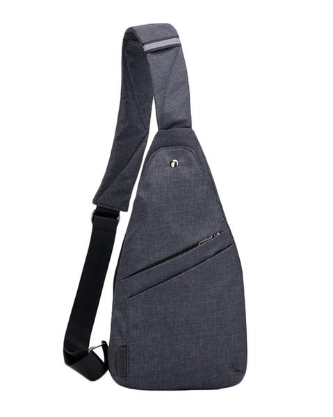 Men Theft Proof Crossbody Bag Shoulder Backpack Canvas Bag Travel Small Chest Backpack