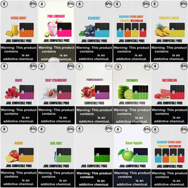 Eon Device Pods 14 Flavors 1.0ml Juul Compatible Pods Mango Pink lemonade blueberry Sour Apple Lush Ice for Portable Pod Battery Kit