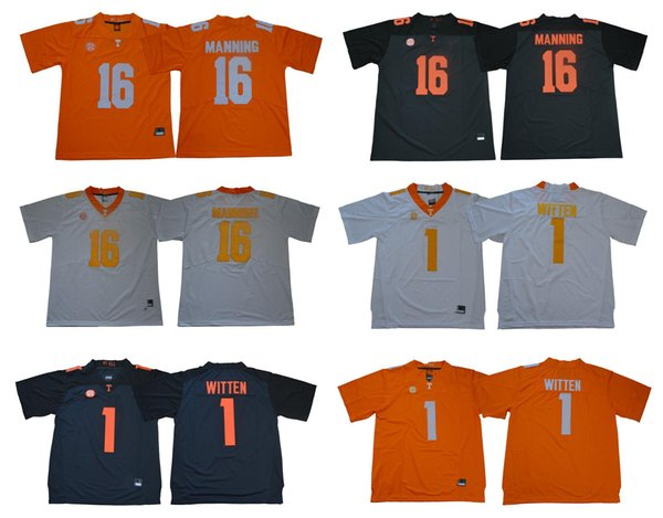 wholesale dealer 46e46 4399a 2019 2019 New NCAA College Peyton Manning Jersey Tennessee Volunteers Jason  Witten Jersey Orange Grey White Size S XXXL From Qqq8, $21.22   DHgate.Com