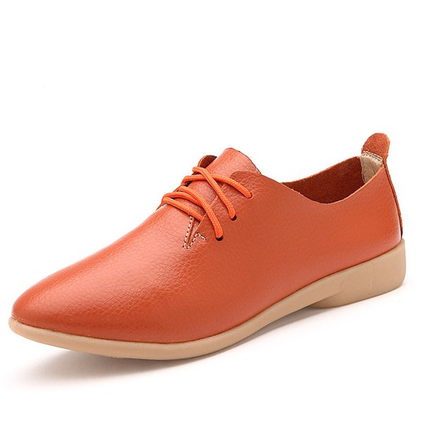 Dress Shoes New Women's Split Leather Derby Oxfords Ladies Low Heels Lace-up Loafers Woman Classic Party Office Wedding Best Sellers