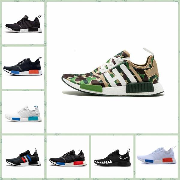 Adidas NMD R1 New Designer scarpe di lusso moda uomo nmd r1 donne Wave Runner running mens ultra training Chaussures di alta qualità Sneakers 36-45
