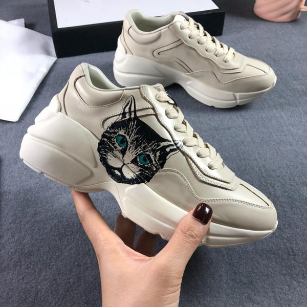Hot Moda Rhyton Sapatos Do Vintage Itlian Na Moda Dad Sneaker Designer de Tênis Das Mulheres Dos Homens Sapatos Casuais Com Caixa