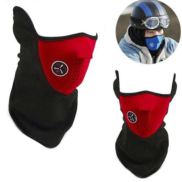 Winter Warm Fleece Balaclavas Ski Cycling Half Face Mask Cover Outdoor Sport Windproof Neck Guard Scarf Headwear Neoprene Masks