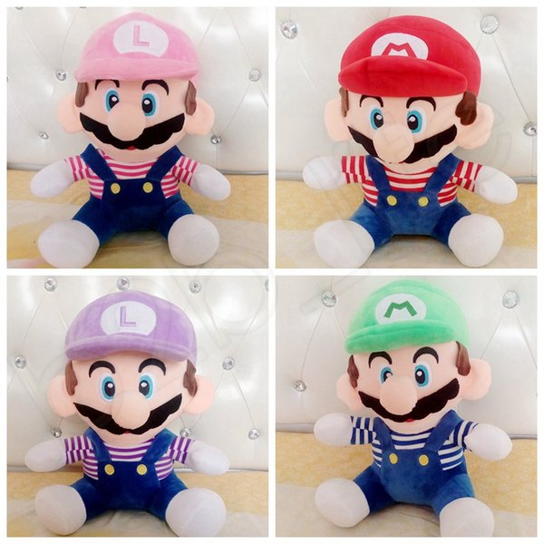Enfants Peluche Poupée Super Mario Frère Jouets Enfants Peluche Poupée Imprimer Colthes Bébé Enfants Cadeaux HHA450