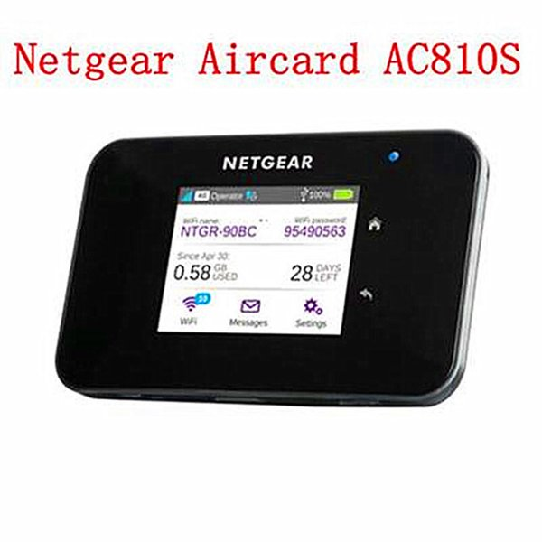 High speed Netgear Aircard AC810s 4G LTE cat11 mobile hotspot wireless pocket wifi router 810s