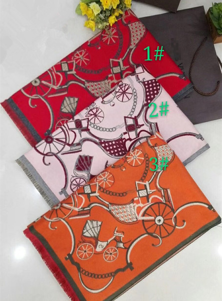 New arrival high quality fashion brand horse pattern high quality comfortable cashmere scarf shawl blanket Christmas gift scarf shawl blanke