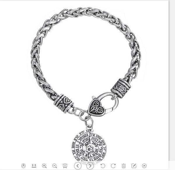 Myshape Men'S Decorative Jewish Runes Pendant Holy Names Star Of David  Ethnic Statement Charms For Bracelet Making Charm Bracelet Charm Mother  Charm