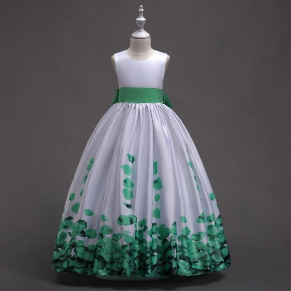 Compre Niños Impresiones De Pétalos Vestidos Elegantes Para Niñas Moda Niños Adolescentes Ceremonia Vestidos Para Niñas 10 11 12 13 14 Años A 3425