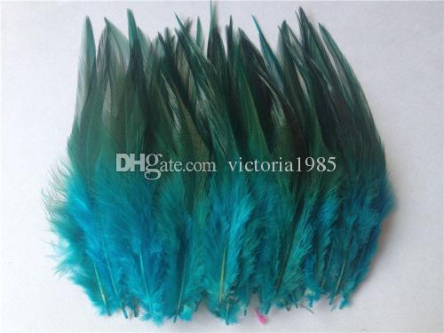 Free shipping hot sale 50 pcs/lot blue pheasant feather 10-15cm DIY jewelry decoration