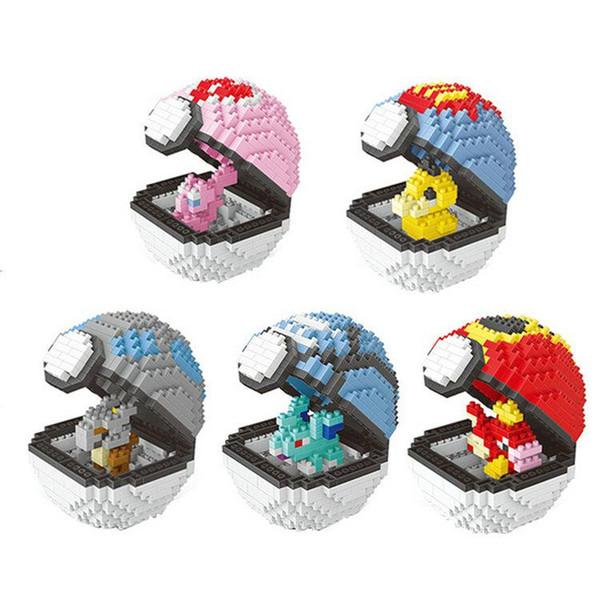 Bloques de partículas pequeñas 10 Modelos Figuras Bloques de construcción de bolas de duende de diamantes Juguetes Regalos de Navidad Anime Puzzle crea tive po kemon elfos