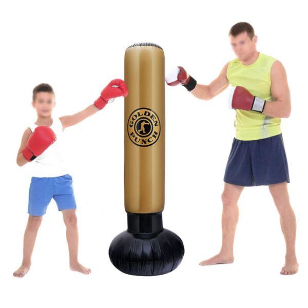 160cm Inflatable Punching Bag Boxing Bag Column Tumbler Adults Children Sandbag