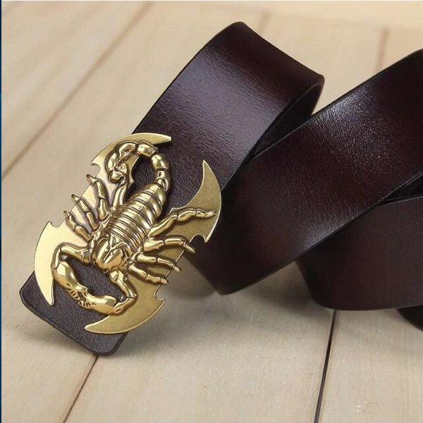 2019 Vintage style pin buckle cow genuine leather belts for men high mens belt hombre free shipping