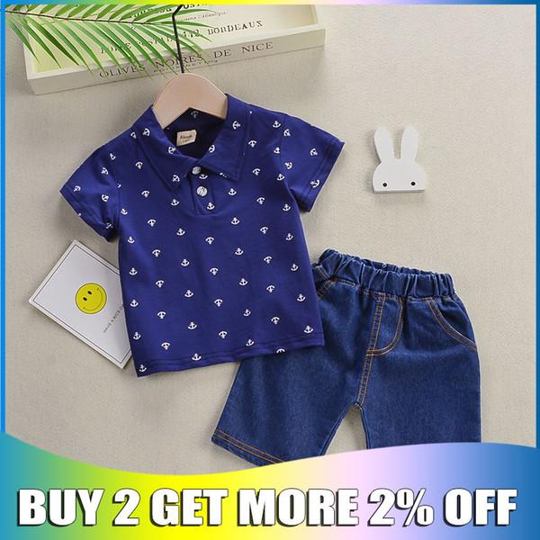 BibiCola Summer New Clothing Sets Bambini Ragazzi Cotton Casual Tute da bambino Ragazzi T-shirt + Pantaloncini Pantaloni 2 pezzi Vestiti Abiti