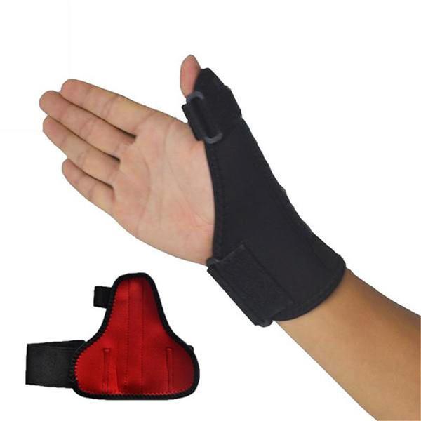 Wholesale- Sport Thumb Protector ThumbBrace Hand Wrist Brace Guard Wrap Glove Support Gym Adjustable Black Equipment