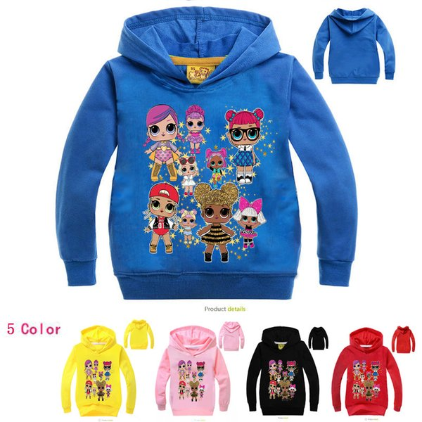 suprise baby hot selling printed teenagers big girls boys kids children hoodies sports clothes tops tees pure cotton top quality 100-170