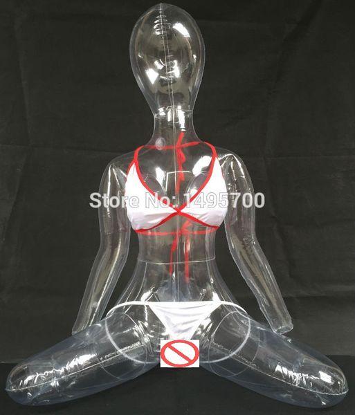 Bambola sexy della masturbazione maschio sexy gonfiabile trasparente della bambola di m. Per la figa della bambola di esplosione dell'uomo