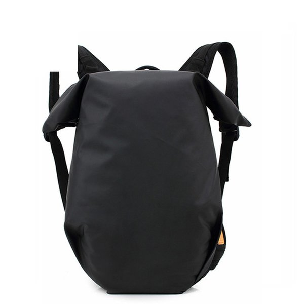 2019 New High Quality Casual Men Polyester Backpack Style Large Capacity Barrel Backpack Army Green/black Daypack For Men