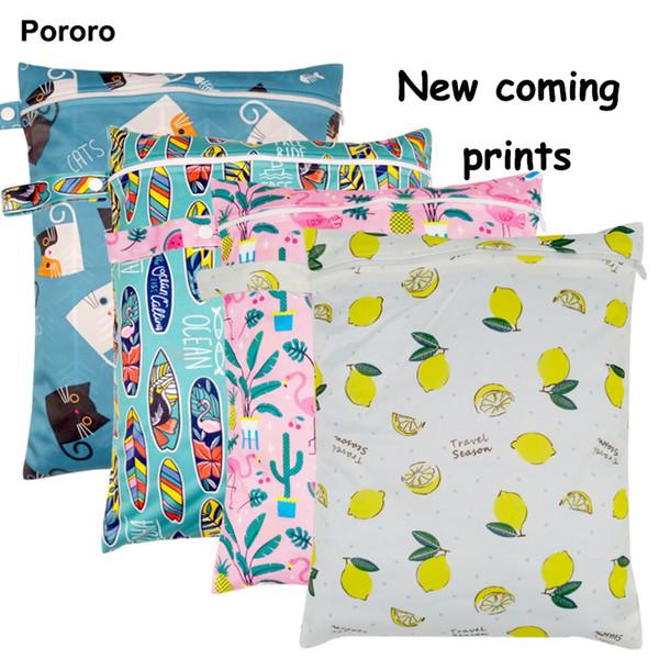 30 * 40 см pul напечатаны один карман пеленки мешок, водонепроницаемый мокрый мешок, детские подгузники сумки ведро лайнер, мешок для белья для детской ткани пеленки