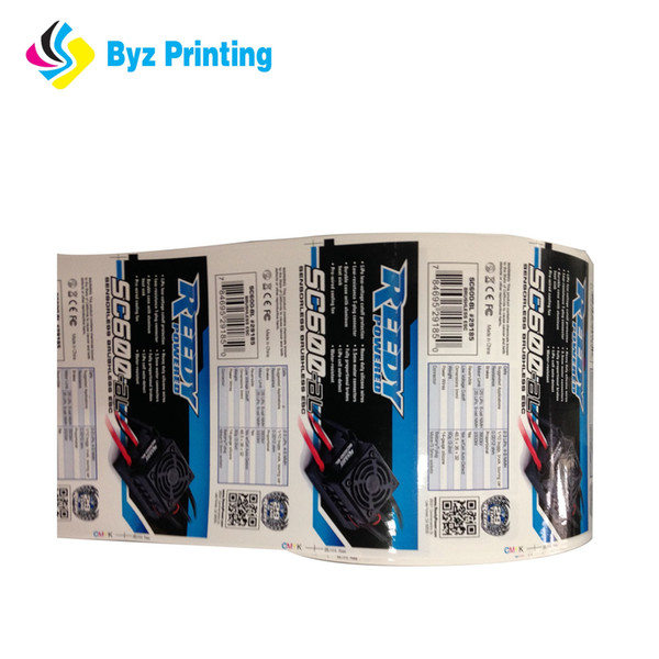 new style Glossy & smoothy paper printing blank label sticker with company logo printed, company name prited adhesive label