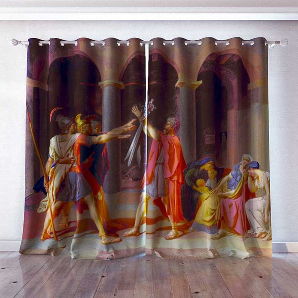 Personality Custom curtain world famous painting The Oath of the Horatii drapes Extra wide Blackout curtain party decoration background
