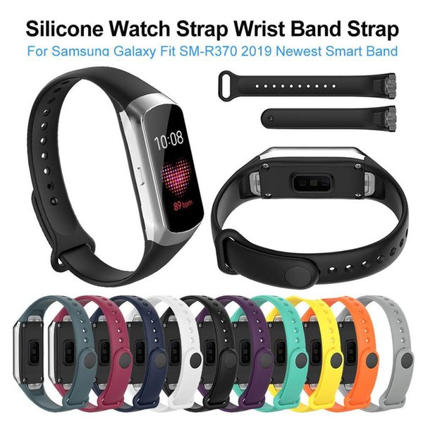 2019 Newest Silicone Sport Watch Strap Wrist Band Strap For Samsung Galaxy Fit SM-R370 Smart Bracelet Watch Strap Accessories