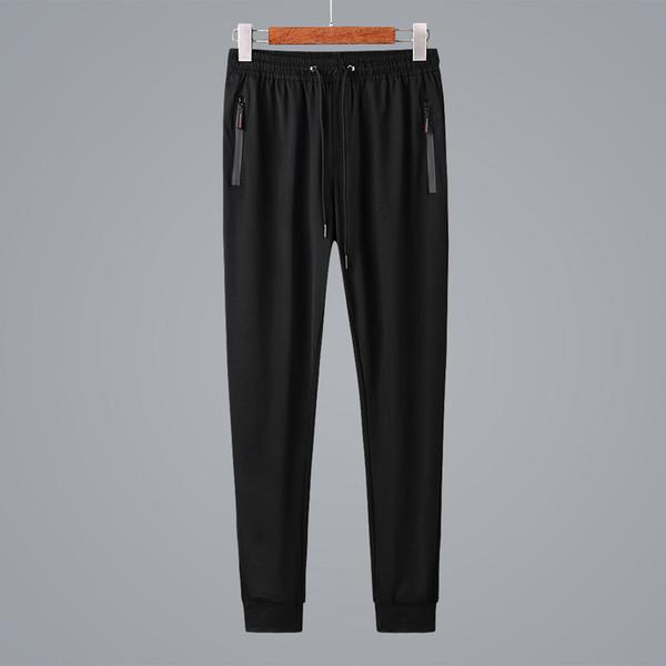2019 verano ultra-delgado de seda de hielo de secado rápido pantalones casuales de los hombres de moda de alta gama cómodo pantalones deportivos