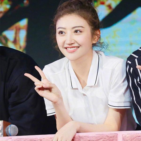Camisas de las mujeres del verano cuello de manga corta estrella coreana mismo párrafo algodón ocasional deporte transpirable sudor absorbente Tops