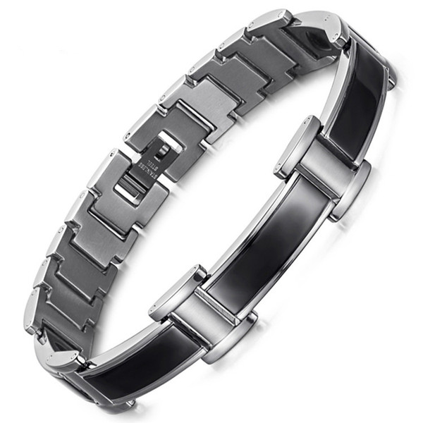 Stainless Steel Curved Magnet Bracelet Negative Ion Far Infrared Germanium Bracelet
