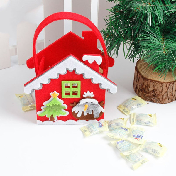 Cute Cartoon Gifts Bags Christmas Cookie Packaging Bolsas de plástico autoadhesivas para galletas Cumpleaños Candy Cake Package