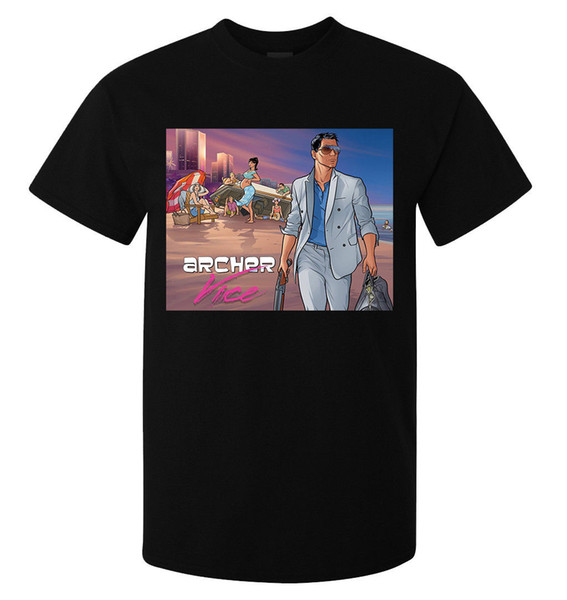 Archer vice fan art Miami Vice styled men's (woman's available) t shirt black