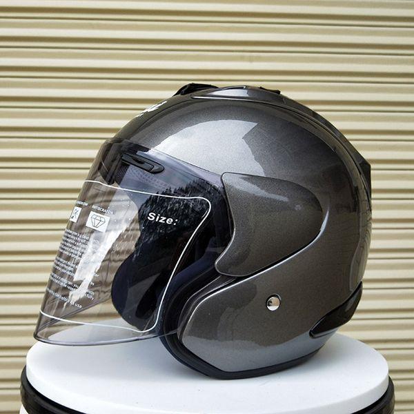 Grey Motorcycle Helmet Casque Men Helmet Breathable Men Volante Esportivo Safety Half Helmet