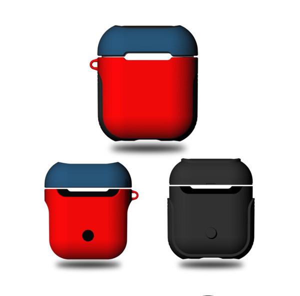 Estuche de funciones para Apple airpods Pouch Box Soft TPU + PC duro Bluetooth Auricular Estuche para Apple AirPods Box Auricular Cubierta Bolsa