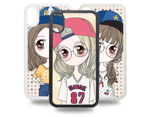 100pcs Blank Case for iPhone X XS XS MAX XR 2D Sublimation Print Hard Plastic Phone Case with Metal Insert Mobile Phone Shell