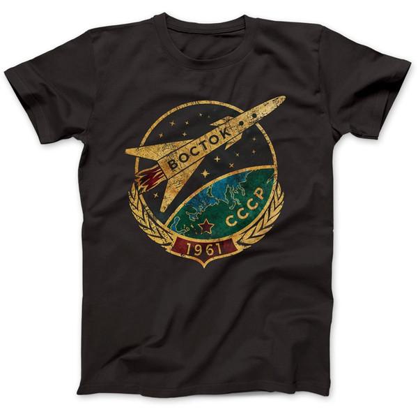 CCCP sowjetischen Wostok T-Shirt Männer Baumwolle Kurzarm O-Ansatz T-Shirt Hip Hop Tees Tops Harajuku Street Fitness