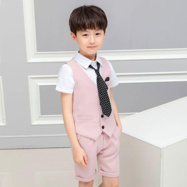 pink vest short 2pcs