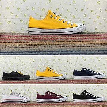 Tuval Eğitmenler Sarı Beyaz Kırmızı Siyah Erkekler Kadınlar Rahat Ayakkabılar Spor Yıldız Düşük Üst Klasik Lüks Tasarımcı Tuval Sneakers Boyutu 35-44