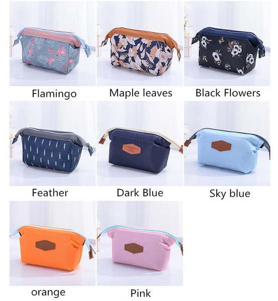 8 Colors High Quality Lady MakeUp Pouch Cosmetic Make Up Bag Clutch Hanging Toiletries Travel Kit Jewelry Organizer Casual Purse