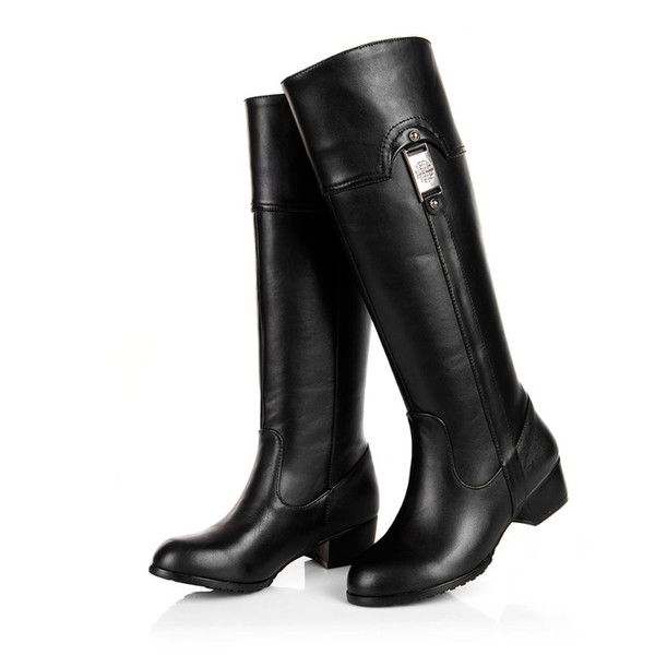 China leather high boots 31-45 yards professional custom size change around the circumference