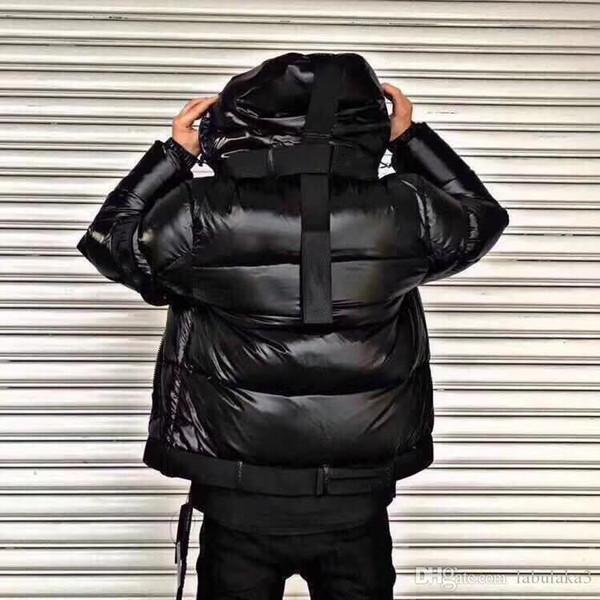 M34 New Fashion nouvelle hommes productt hiver vers le bas épaississement manteau de duvet parkas à capuche veste en duvet couleur noire