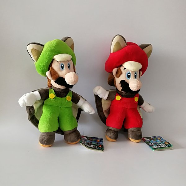 Wholesale New Mario Luigi Cosplay Bat Super Mario Bros Soft Toy Plush Doll Collection For Kids Holiday Best Gift 9.5inch 24cm