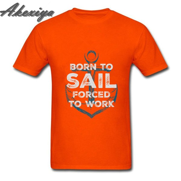 compression shirt Born to sail Forced to Work Anchor Quotes Vintage Creative Design T Shirt Fashion Brands men clothes 2019 Tops