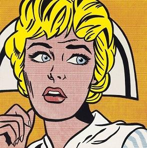 Roy Lichtenstein Nurse High Quality HandPainted &HD Print Pop Art Portrait Wall Art Oil Painting On Canvas Home Decor Multi Sizes Ry27