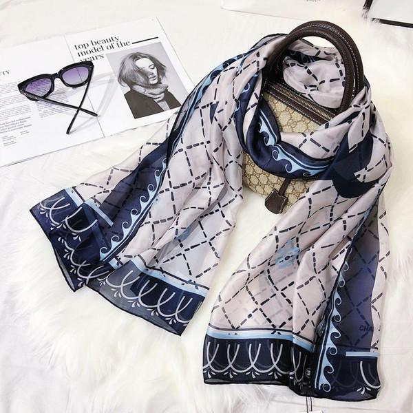 Nouvelle marque foulard en soie d'été femmes foulard de haute qualité mince Designer haute qualité foulards en soie véritable