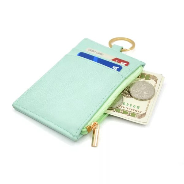 Slim PU neck badge card wallet with lanyard Newest Mini Card Holder Portable ID Card Bus Cards Cover Case Office Work Keychain Tool