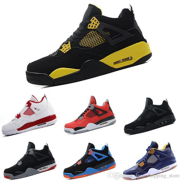 Ayakkabı 4 4 s Basketbol Erkekler Askeri Motosports mavi Alternatif 89 Saf Para Beyaz Çimento Royalty bred Yangın Kırmızı Siyah Kedi oreo Spor sneakers