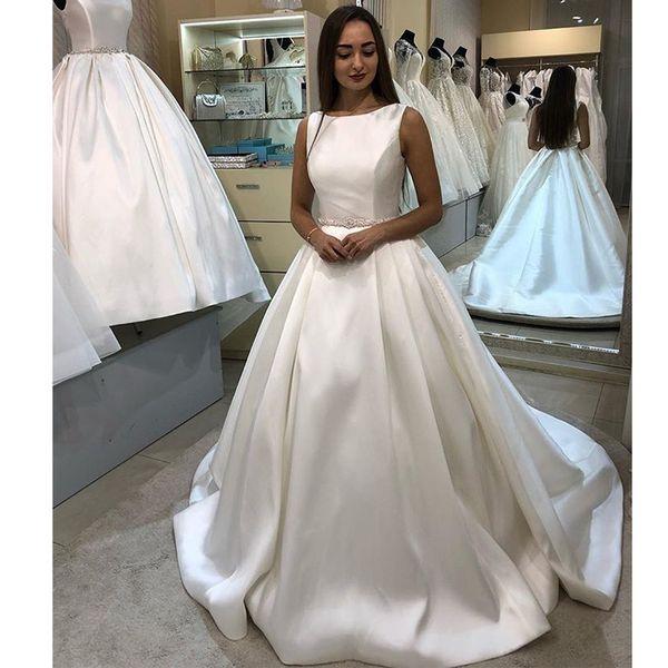 Acheter Chic Dentelle Appliques Robe De Mariage Africain Pour Les Femmes 2019 Robe De Bal Formelle Robe De Noiva Brillant Perles Cristal Plus La